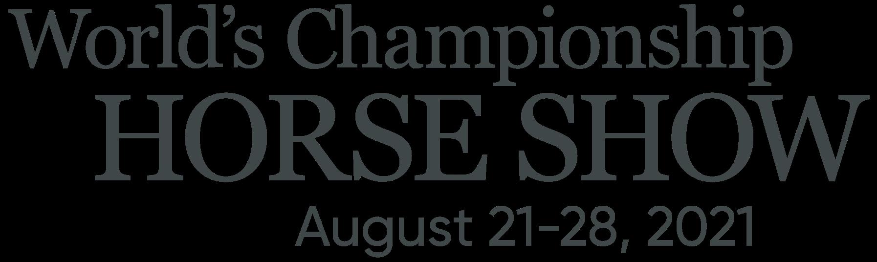 World Championship Horse Show Logo